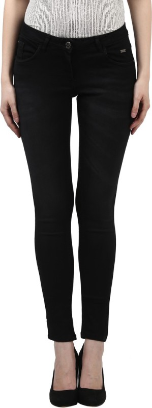 Park Avenue Slim Women Black Jeans