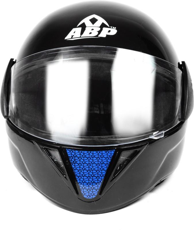 ABP BOSS Full Face Solid Plastic ISI Mark Motorbike Helmet Motorbike Helmet(Black)
