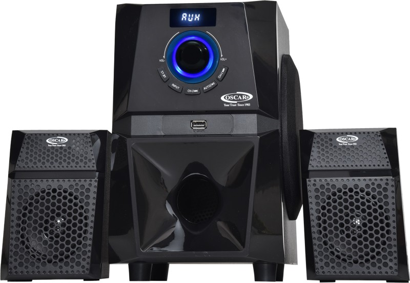Oscar OSC-2140BT 2.1 Channel With Digital Display, Bluetooth, Fm And Aux Connectivity Bluetooth Laptop/Desktop Speaker(Black, 2.1 Channel)