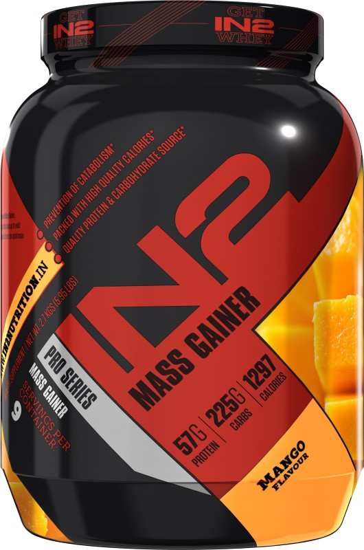 in2 IN2 Mass Gainer Mango 2.7 Kg Weight Gainers/Mass Gainers(2.7 kg, Mango)