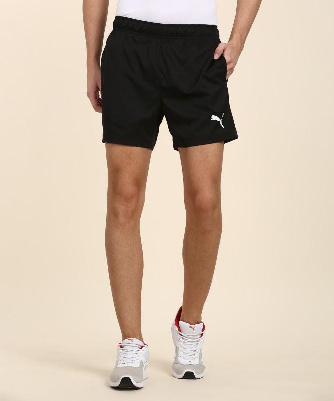 Puma Solid Men's Black Sports Shorts