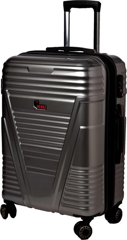 F Gear Valkyrie Polycarbonate 64 (cm) Expandable Cabin Luggage - 22 inch(Silver)