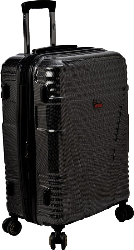 F Gear Valkyrie Polycarbonate Expandable Cabin Luggage - 22 inch(Black)