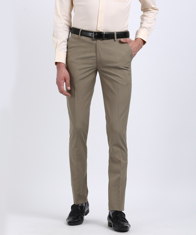 Indigo Nation Skinny Fit Men's Beige Trousers