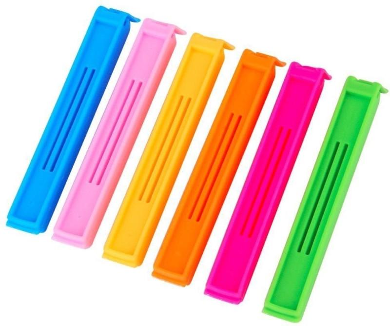 dk-eSTOR Different Size Plastic Food Snack Bag Pouch Clip Sealer Manual Vacuum Bag Sealer