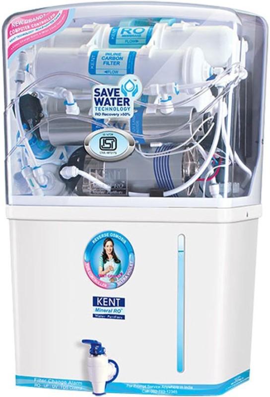Kent Grand Plus (11001) 8L 8 L RO + UV + UF Water Purifier(White)