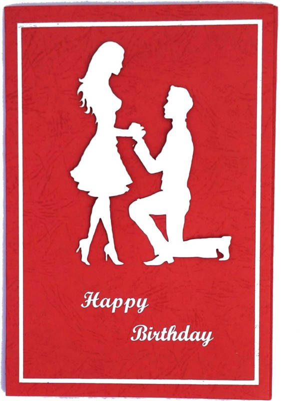 archivearea HANDMADE 3D Birthday Greeting card Greeting Card(Red, White, Pack of 1)