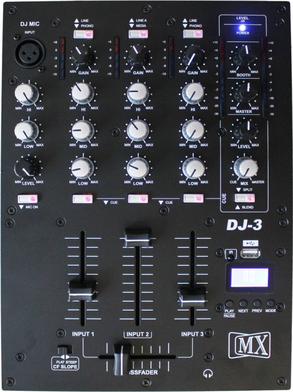 MX Professional Three 3 Wired DJ Controller