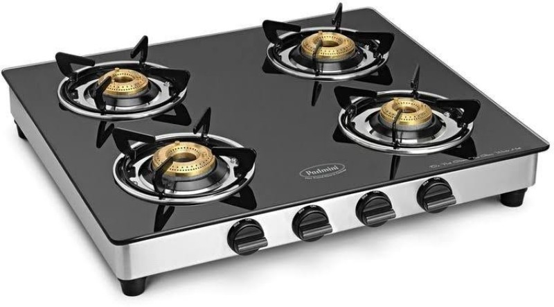 Padmini Glass Manual Gas Stove(4 Burners)