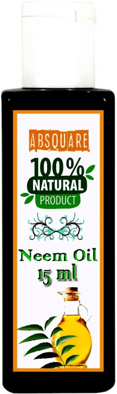 absquare 100 % Natural & Pure Neem OIl 15 ml (Pure Organic Neem Oil Cold Pressed Oil for Hair and Skin) Hair Oil(15 ml)