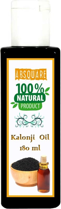 absquare Pure Kalonji Hair Oil 180 ml ( 100% Natural & Pure Black Seed Hair Oil) hair oil Hair Oil(180 ml)