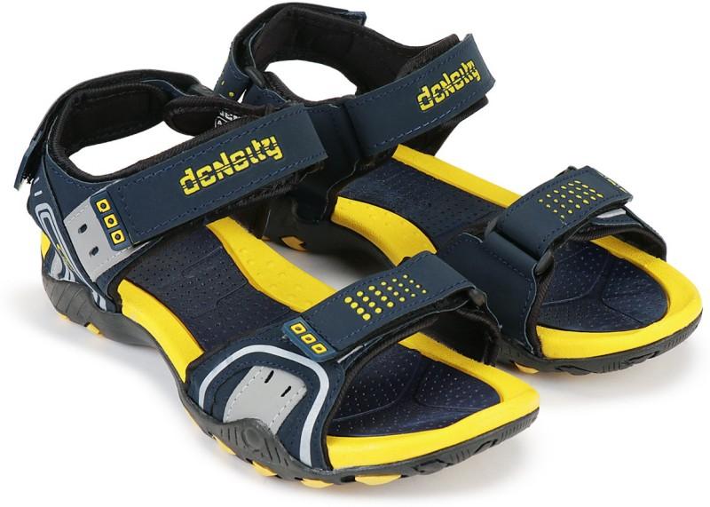 Density Men Yellow, Black, Grey Sports Sandals