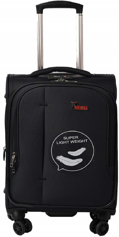 F Gear Aspire Expandable Check-in Luggage - 24 inch(Black)