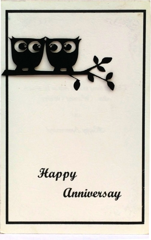 archivearea HANDMADE ANNIVERSARY 3D GREETING CARD Greeting Card(Cream, Black, Pack of 1)