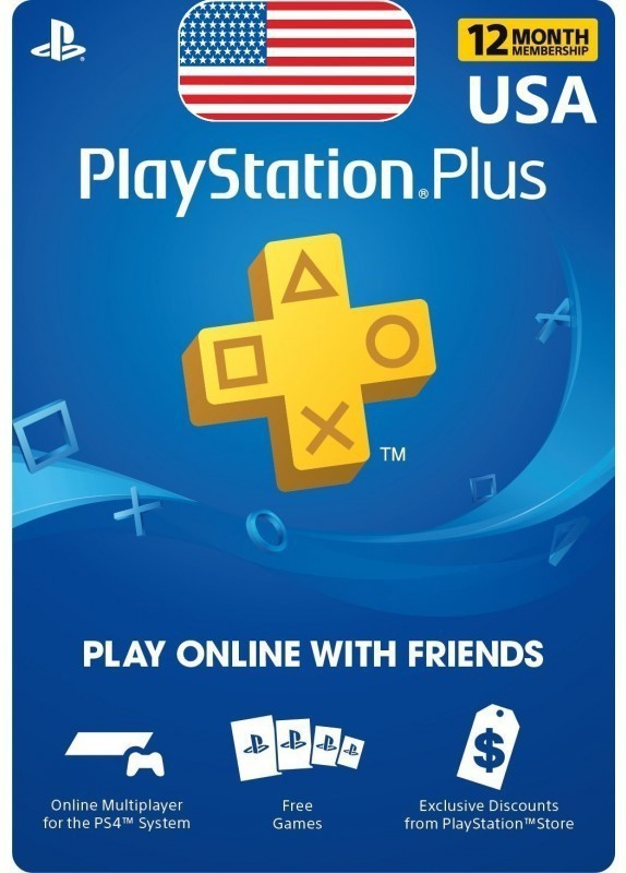 Playstation Plus 12 Months Subscription Service Exclusive Edition with Expansion Pack Only(Code in the Box - for PS4)
