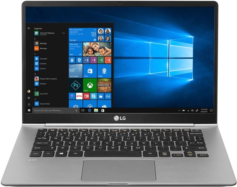 LG Gram Core i5 8th Gen - (8 GB/256 GB SSD/Windows 10 Home) 14Z980 Laptop(14 inch, Dark SIlver)