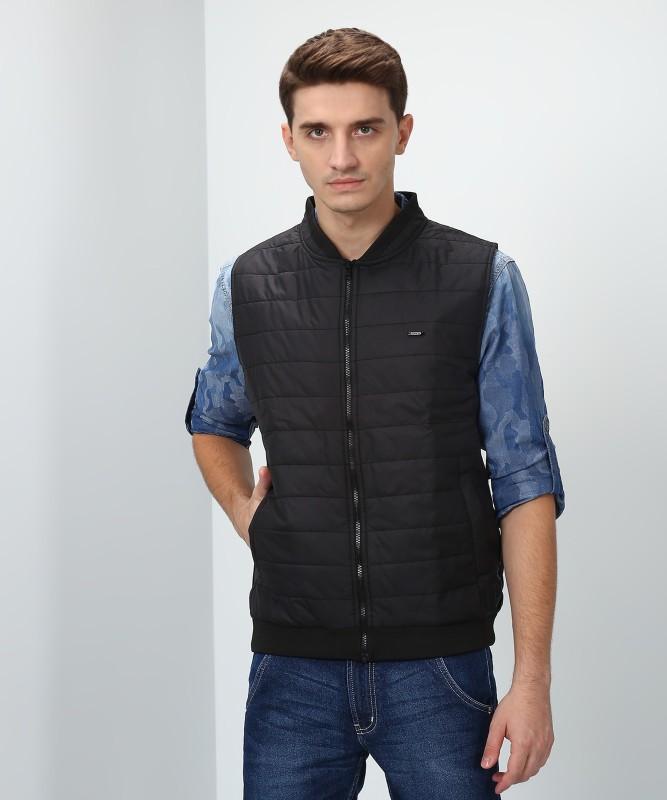 Peter England Sleeveless Solid Mens Jacket