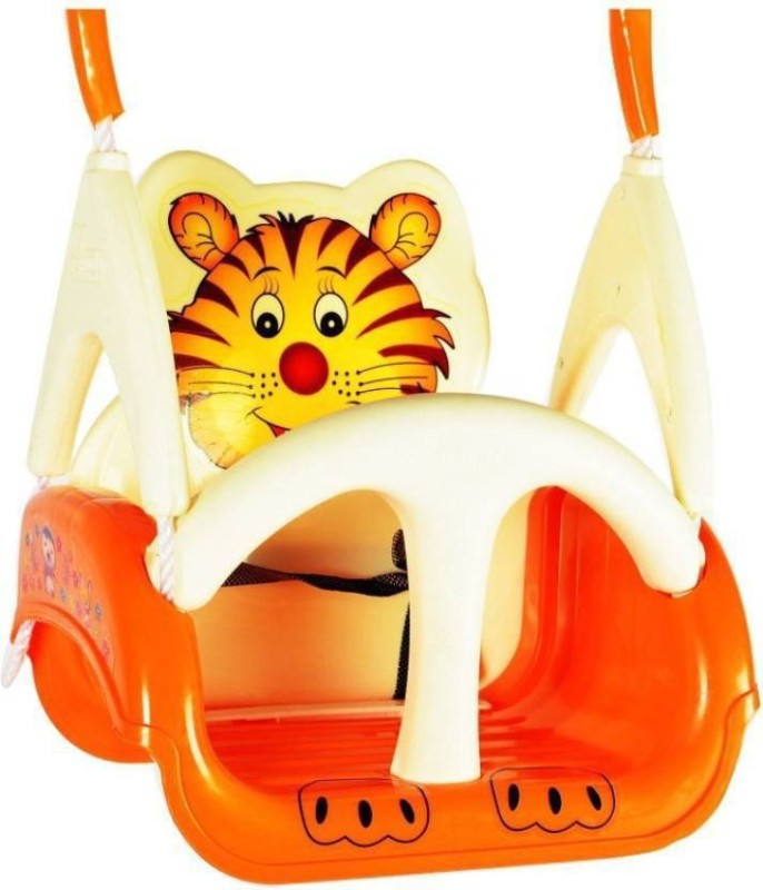 Mofaro White & Orange Baby Tiger Swing Chair(Multicolor)