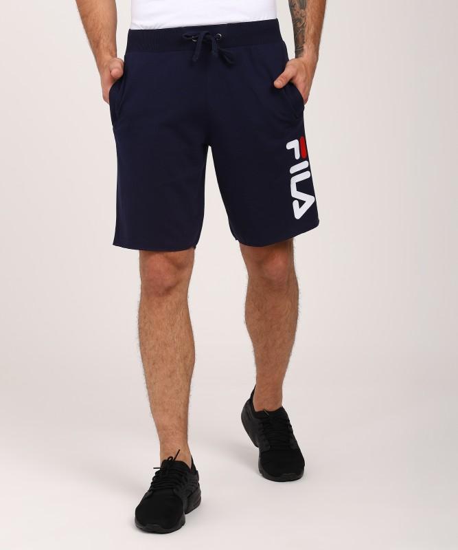 Fila Solid Men Blue Basic Shorts