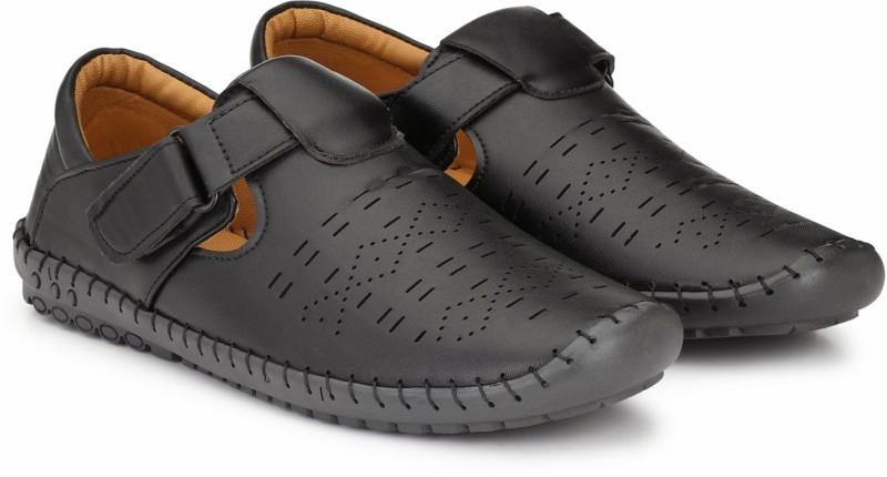 PROVOGUE Men Black Sports Sandals