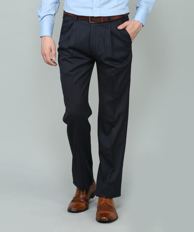 Arrow Slim Fit Men's Dark Blue Trousers
