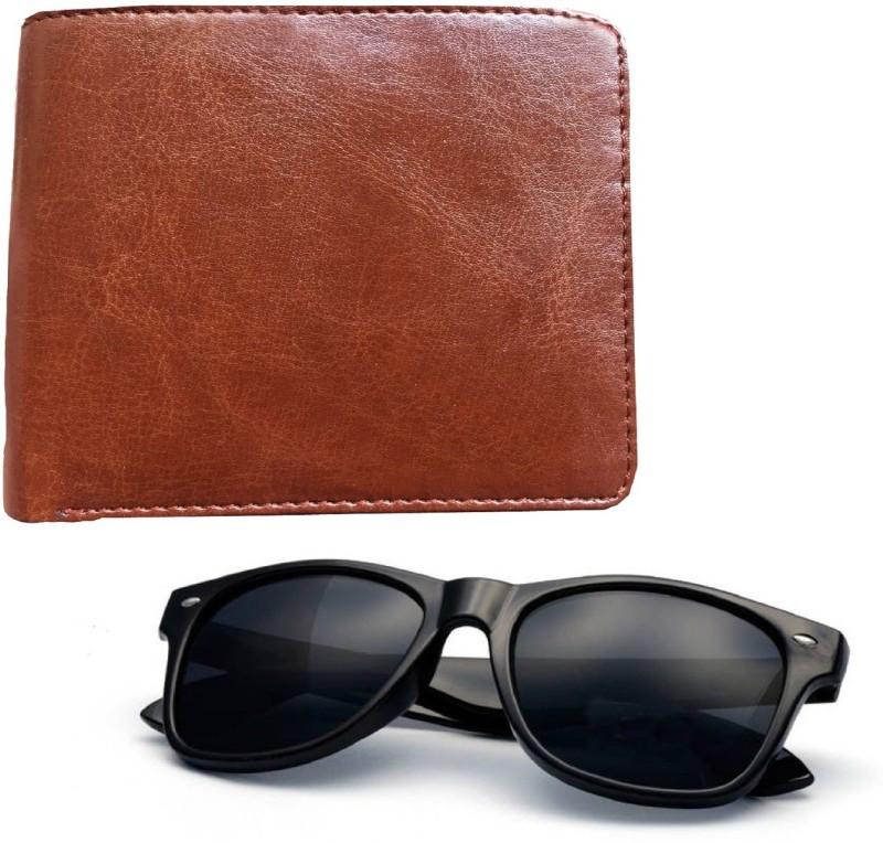 Peacock Mundkar Wallet, Wayfarer Combo(Black, Brown)