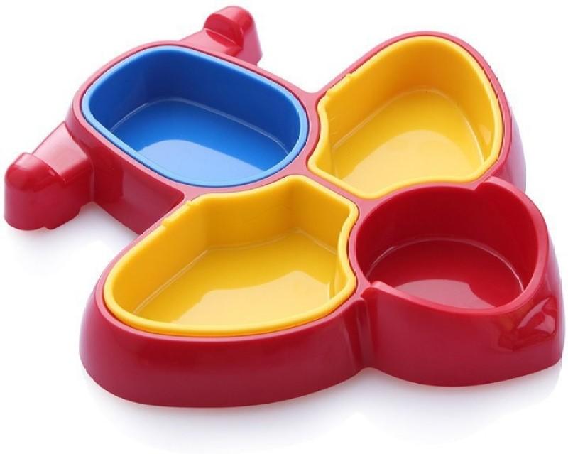 Tako bell Plane shape food plate for kids Dinner Set(Plastic)