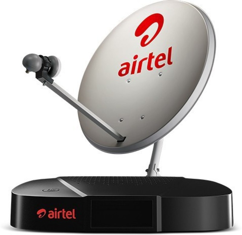 Airtel HD High Definition Set Top Box With Recording Feature And 1 Month Family Plus HD Pack