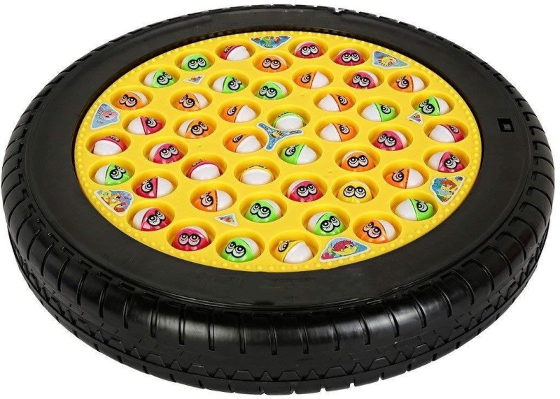 Webby Musical Tyre Fishing Game Toy with 45 Fishes(Multicolor)