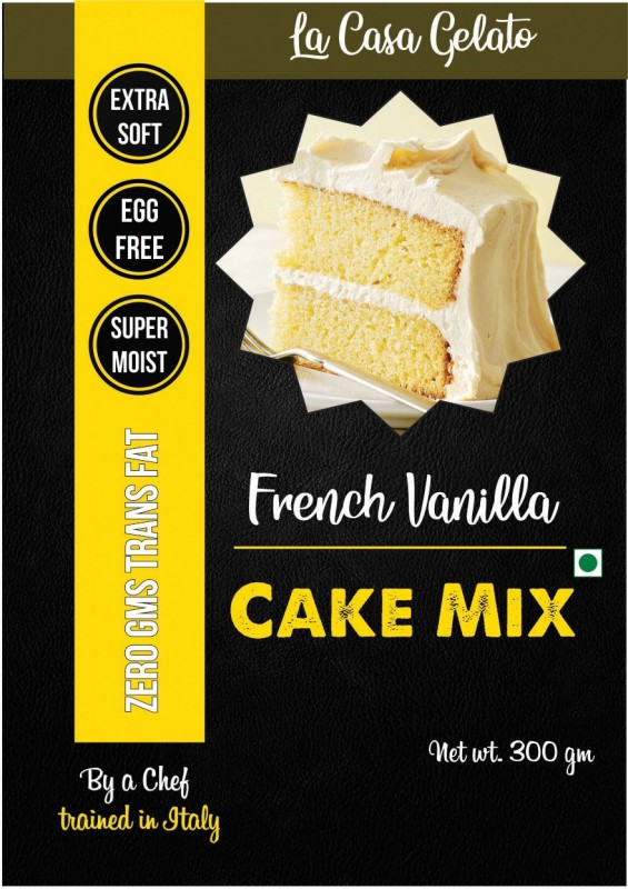 La Casa Gelato French Vanilla Eggless Cake Mix 300 g