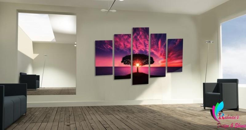 Rahman's Design & Shines Rahman's Design & Shines 5 Pieces set Canvas - Digitally Printed Wall Canvas Frames (36x24)