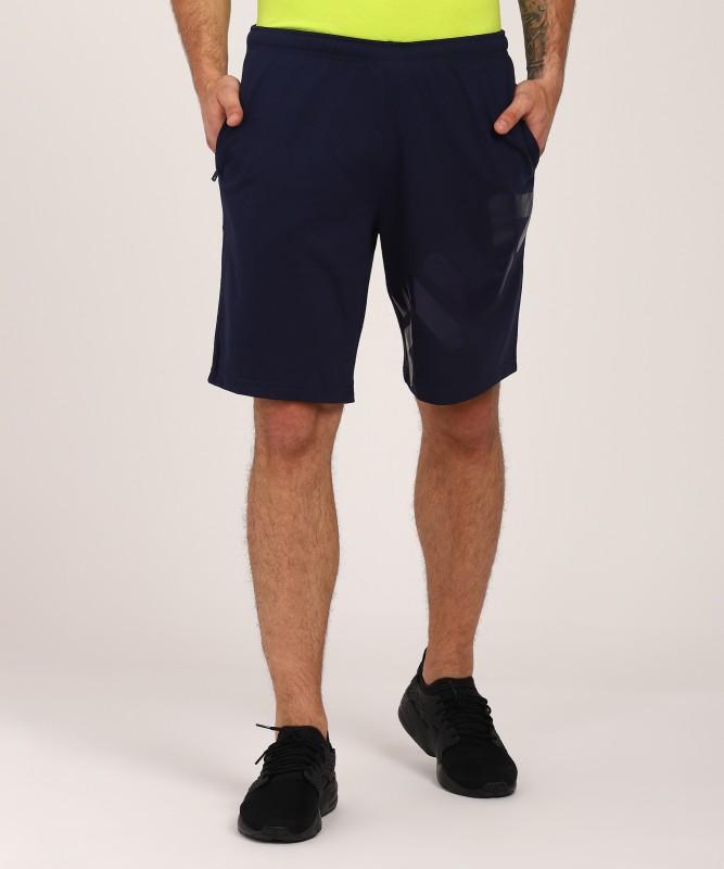 Fila Solid Men Blue Sports Shorts