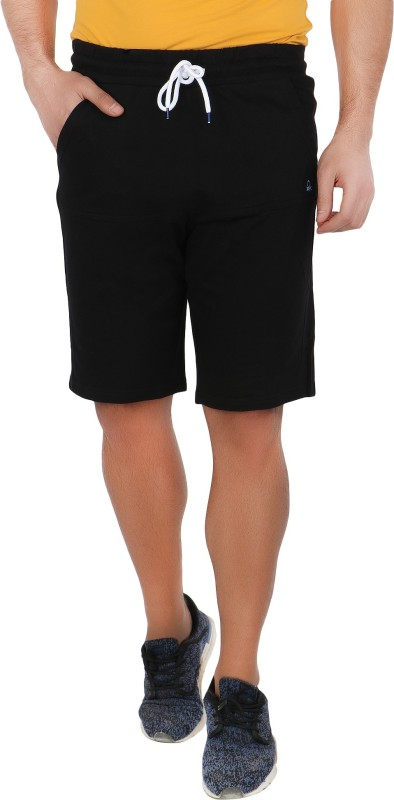 United Colors of Benetton Solid Men's Black Regular Shorts