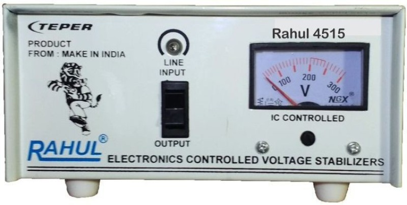 Rahul 4515a 300 VA 140-280 Volt 1 LCD/LED TV +DVD/DTH/Music System Automatic Voltage Stabilizer Automatic Stabilizer(White)