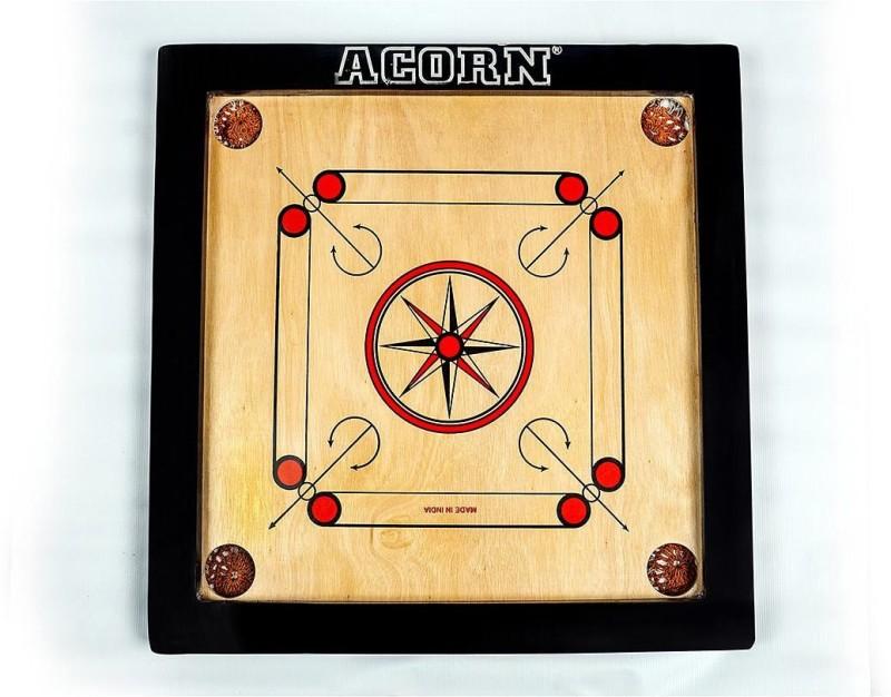 Acorn® Premium 18X18 Size Carrom Board ( Top Quality)- Free Carrom Coin Set & Striker 20 inch Carrom Board(Multicolor)