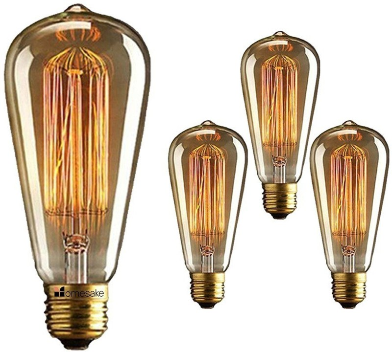 Groeien 40 W Decorative E27 Incandescent Bulb(Yellow, Pack of 4)
