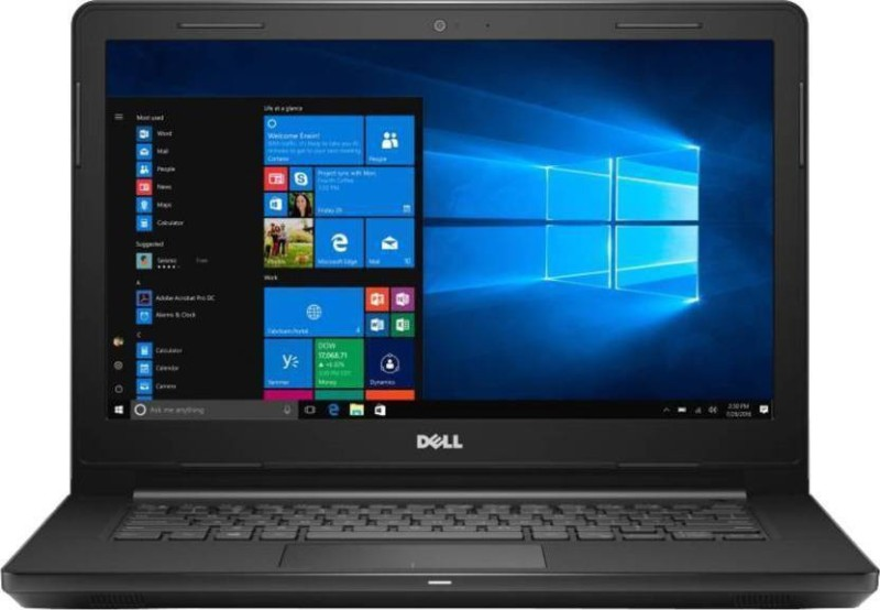 Dell Inspiron 14 3000 Series Core i3 7th Gen - (4 GB/1 TB HDD/Windows 10 Home) 3467 Laptop(14 inch, Black, 1.96 kg)