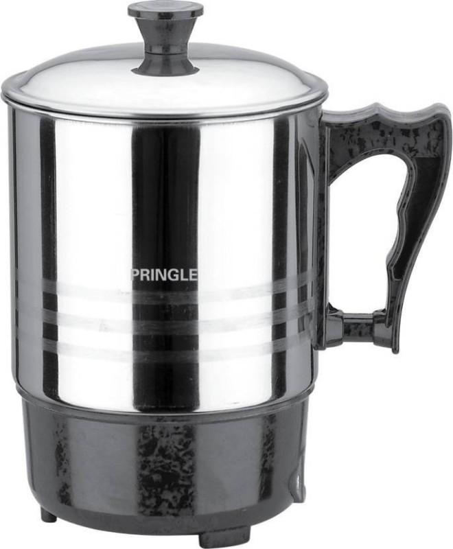 PRINGLE Heating Mug HM 1203/Electric mug/Mini Kettle Mug for Travel/Mini Thermo Mug/Stainless Steel Leak Proof Mug Electric Kettle(800 L, Black, Silver)