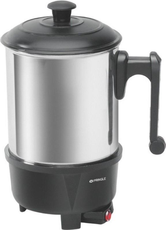 PRINGLE Heating Mug HM 1205/Electric mug/Mini Kettle Mug for Travel/Mini Thermo Mug/Stainless Steel Leak Proof Mug Electric Kettle(1 L, Black, Silver)