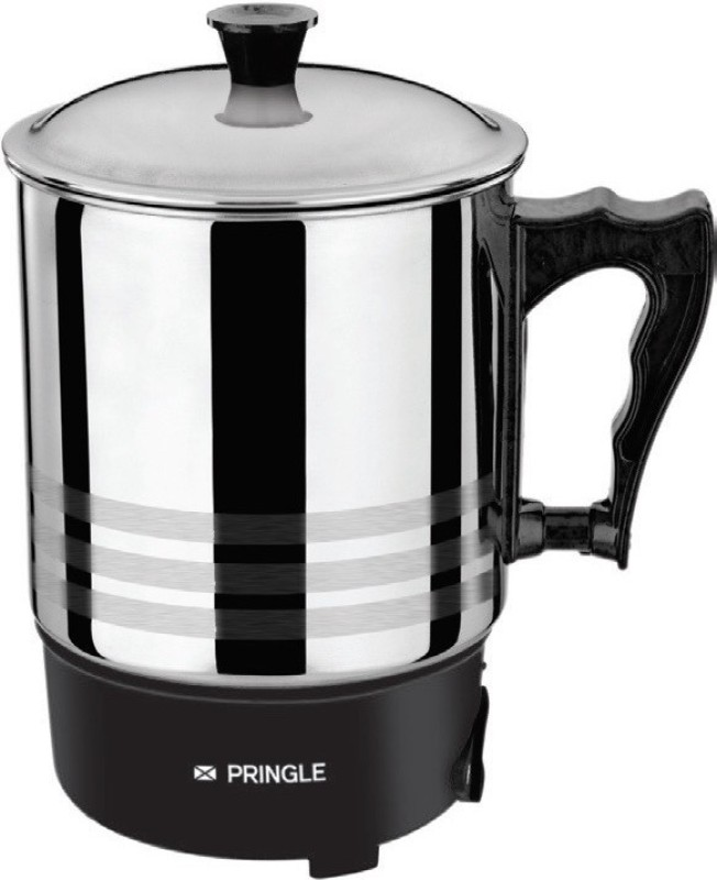 PRINGLE Heating Mug HM 1202/Electric mug/ Mini Kettle Mug for Travel/Mini Thermo Mug Electric Kettle(1 L, Black, Silver)