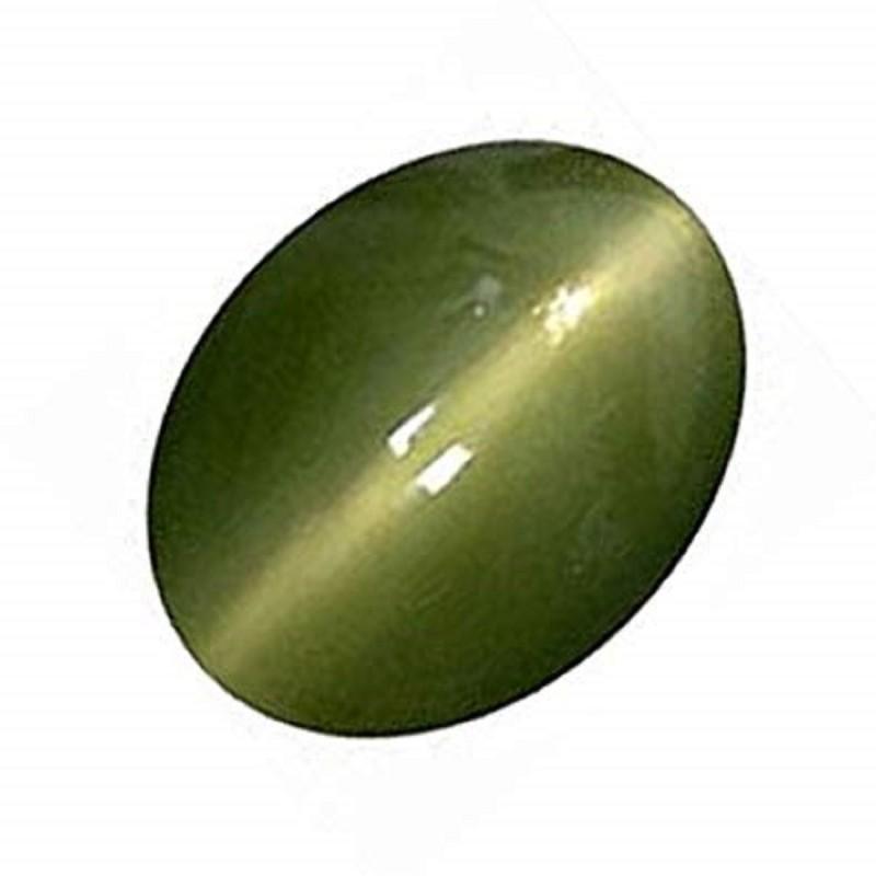 Krishna Gems Green Cut Natural Cats Eye Gemstone(7.45 carat)