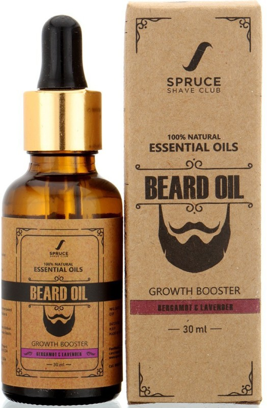 spruce shave club Beard Growth OIl For Men - Bergamot & Lavender - 100% Natural Essential OIls Hair Oil(30 ml)