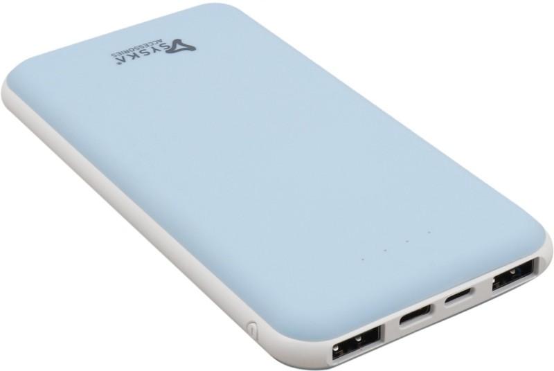 Syska 10000 Power Bank (100, Power Plus)(Blue White, Lithium Polymer)