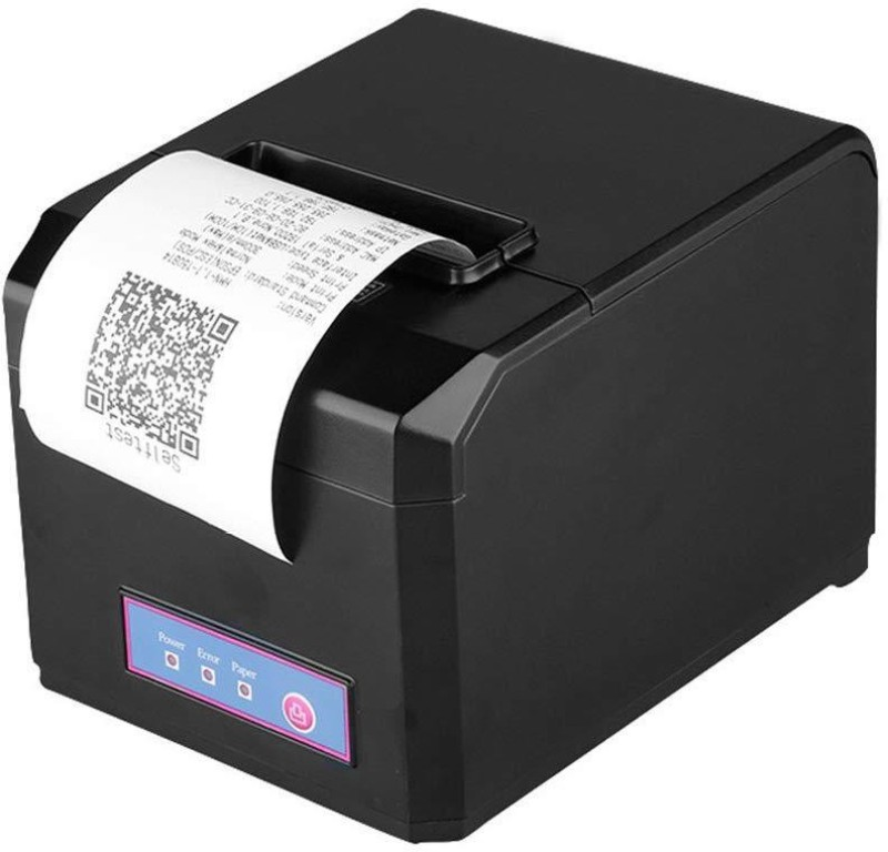 ATPOS 80mm (3 Inch) High Speed Direct Thermal Printer E801 - Monochrome - Desktop | Auto Cutter | Receipt Print POS Printer | Invoice Billing Thermal Receipt Printer