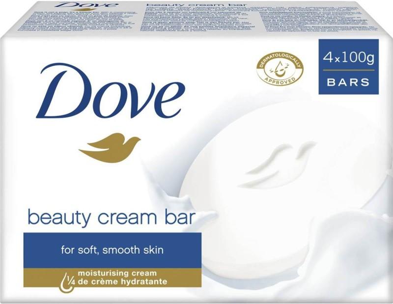 Dove BATH SOAP BAR(400 g, Pack of 4)