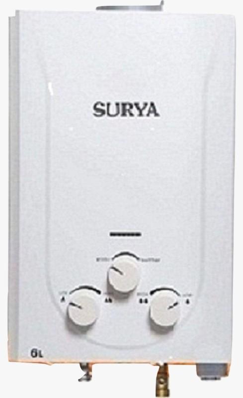 Surya 6 L Gas Water Geyser(White, Gas Geyser)