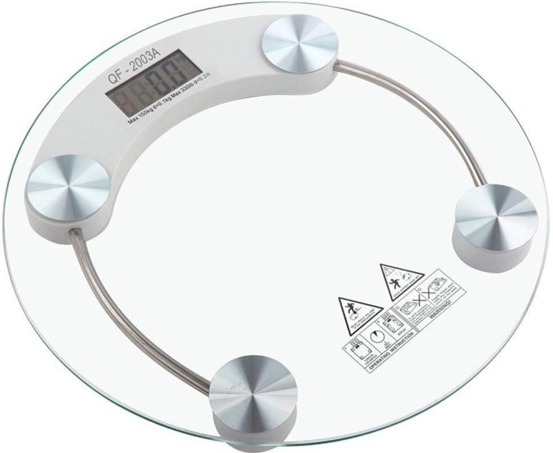 Easymart Digital Weighing Scale (8MM Thick Tempered Glass) Weighing Scale(White)