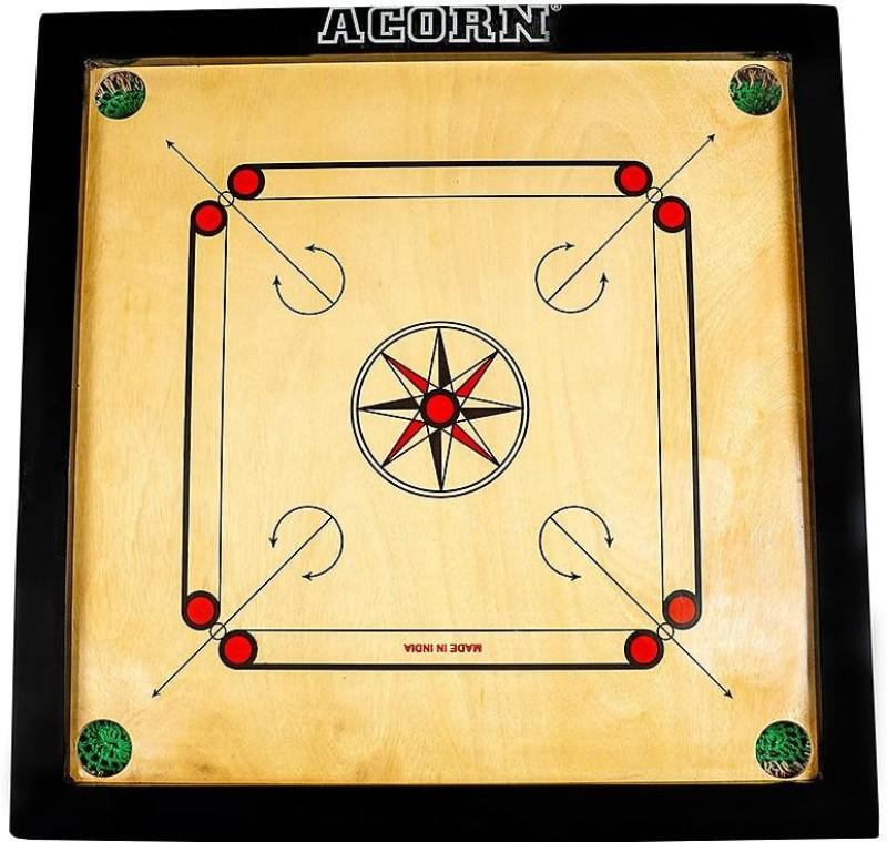 Acorn® Premium 25 25 inch Carrom Board(Multicolor)