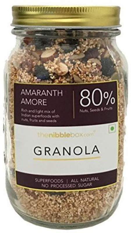 TheNibbleBox Amaranth Amore Breakfast Granola Jar 400g(400 g, Glass Bottle)