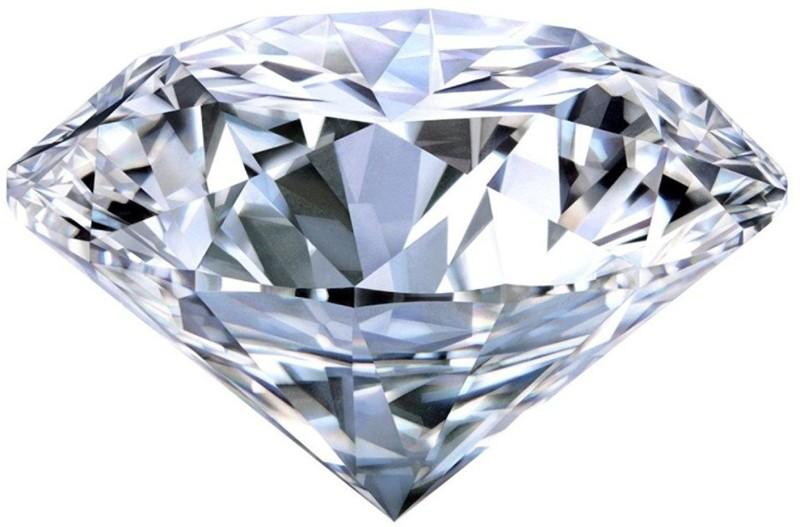 Sahiba Gems White Cut Stimulated Swarovski Crystal Gemstone(3.40 carat)